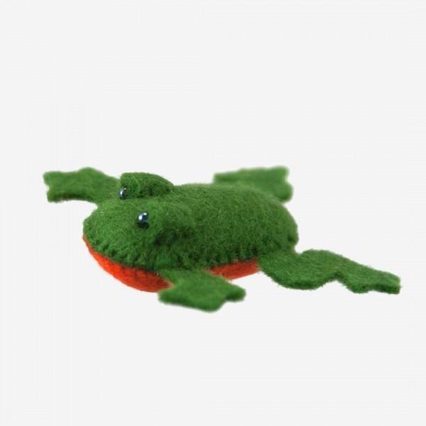 Kleine Filz Freunde Frosch