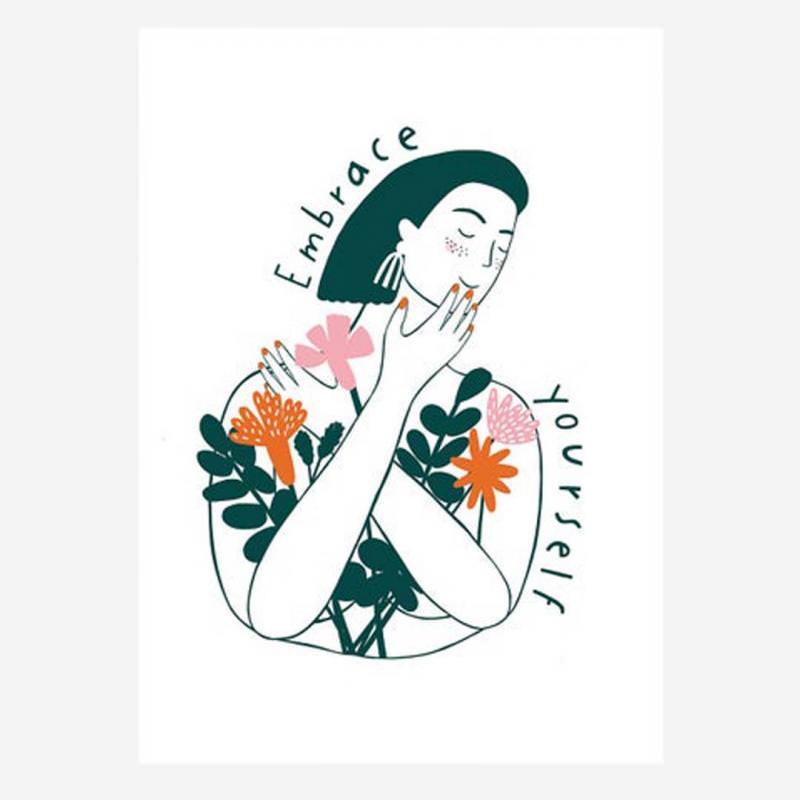 "Postkarte ""Embrace Yourself"""