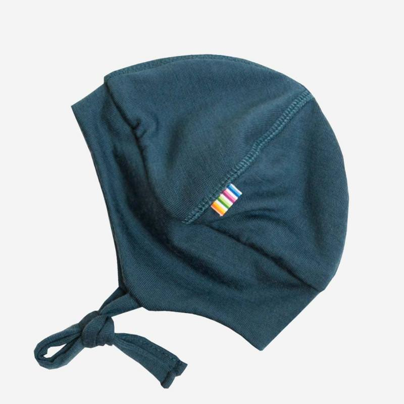Mütze Merinowolle petrol