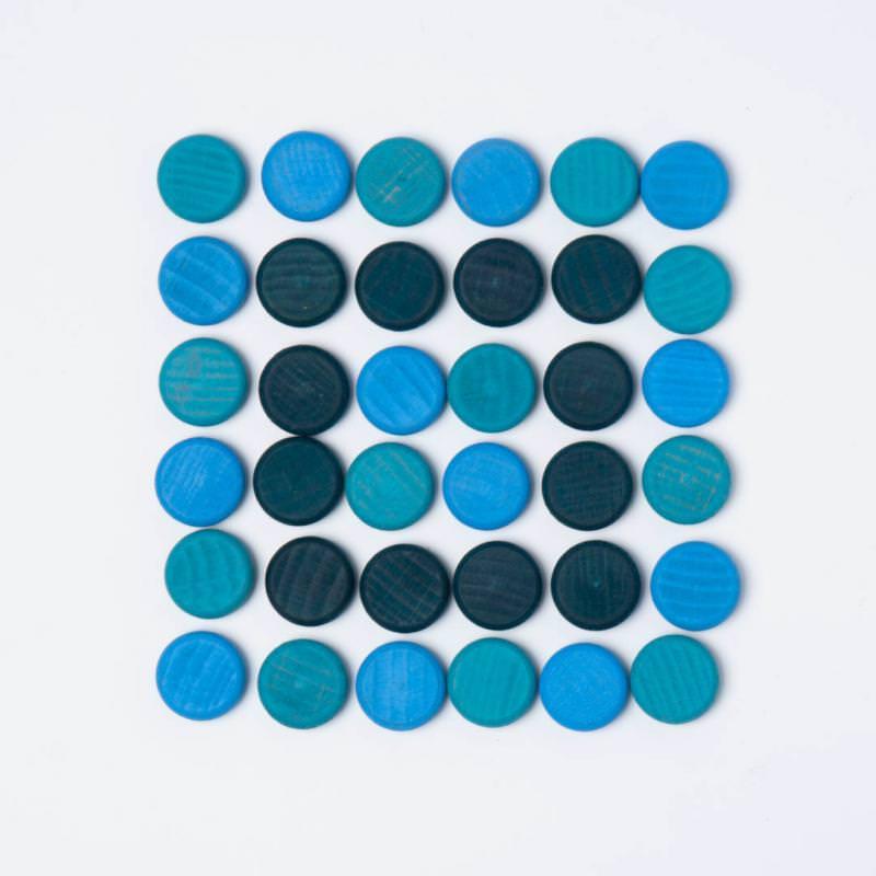 Mandala Coins blaue Scheiben