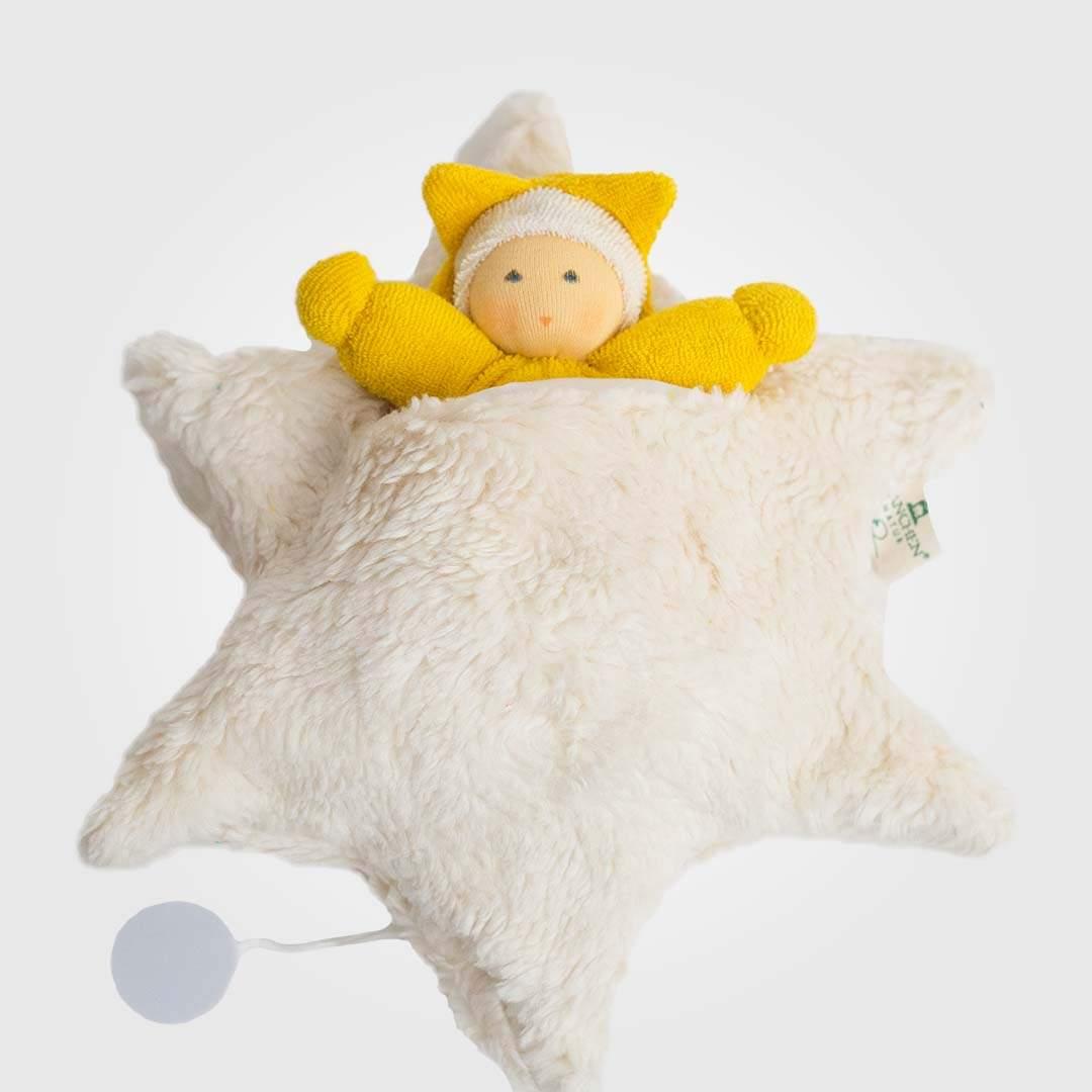 sternenbett mit spieluhr lila l mmchen onlineshop. Black Bedroom Furniture Sets. Home Design Ideas