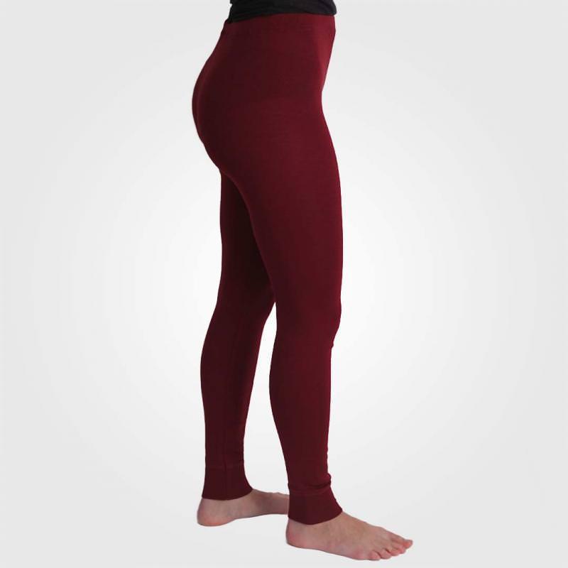 Lange Unterhose Damen bordeaux