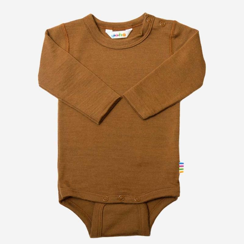 Baby Body von Joha aus Wolle/Seide in kupfer
