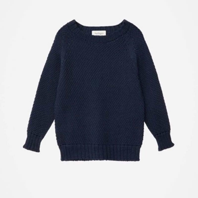 Damen Pullover Wolle blau