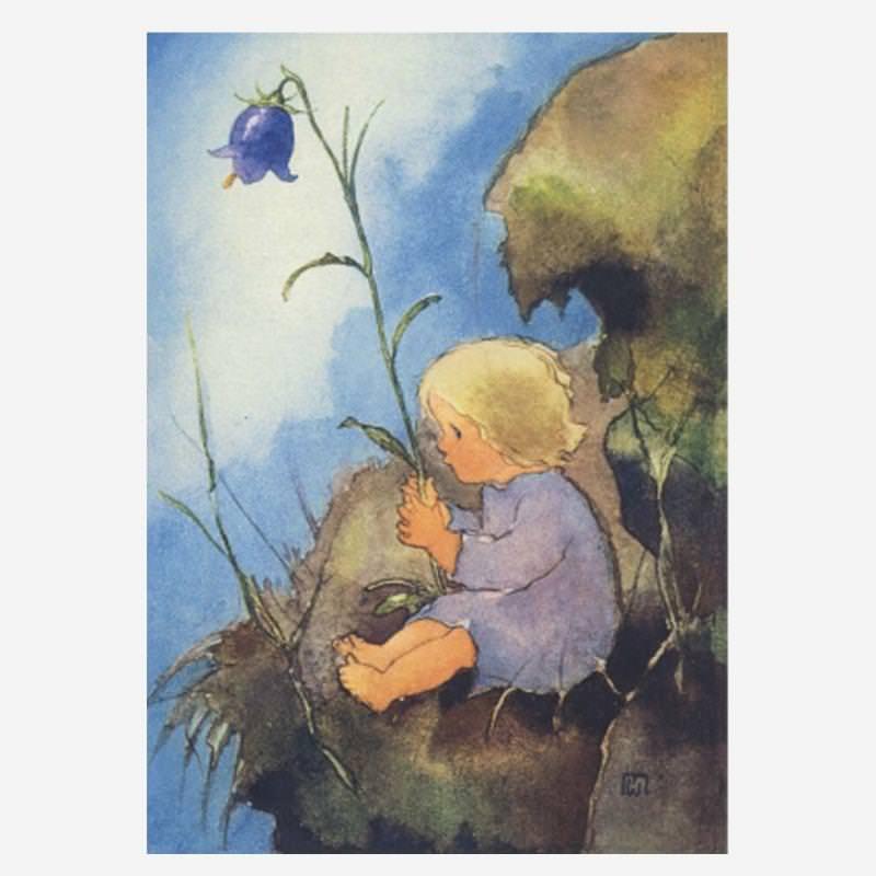 """Postkarte """"Mein Glöckchen"""" von Mili Weber"""