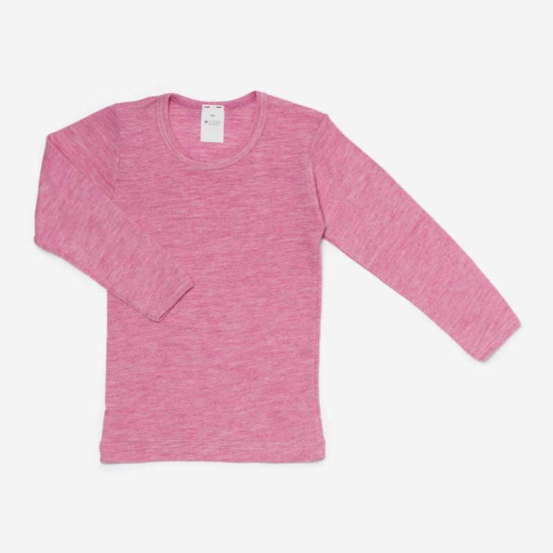 Unterhemd Wolle/Seide beere meliert