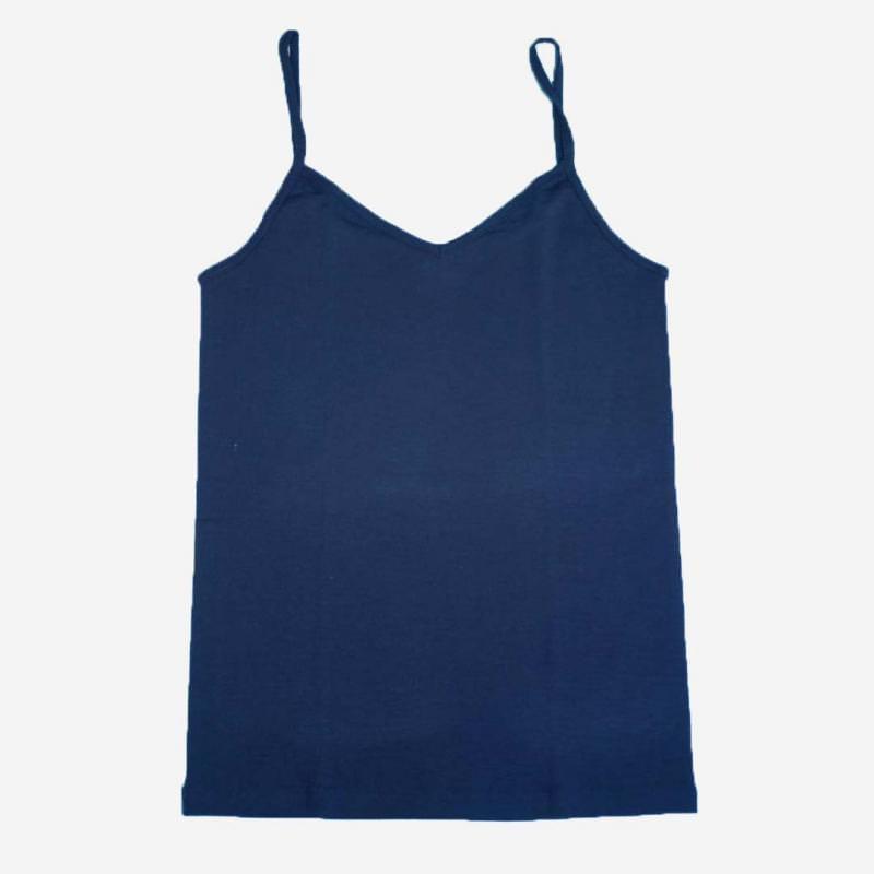 Trägerhemd Wolle/Seide dunkelblau