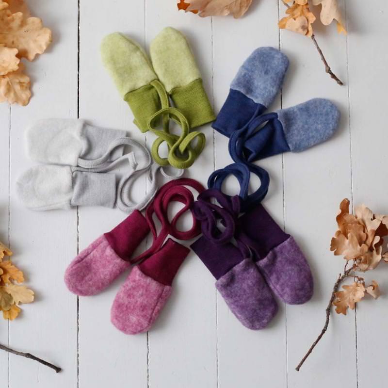 Baby Handschuhe Wolle/Baumwolle-Fleece
