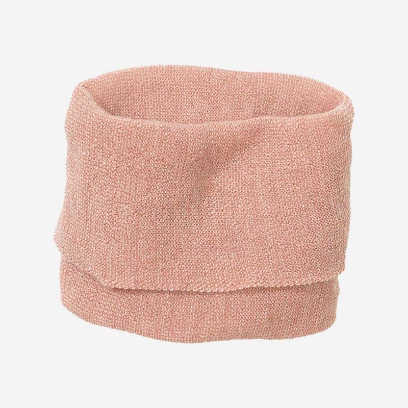 Kinder Schlauch-Schal von Disana aus Wolle in rosé-natur