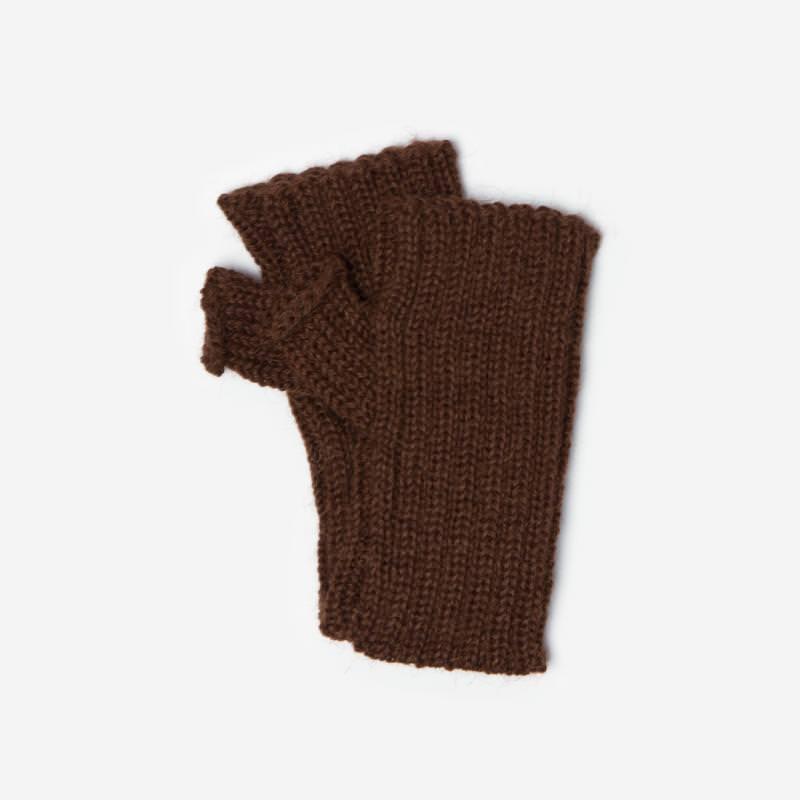 Kinder-Handstulpe Alpaka braun