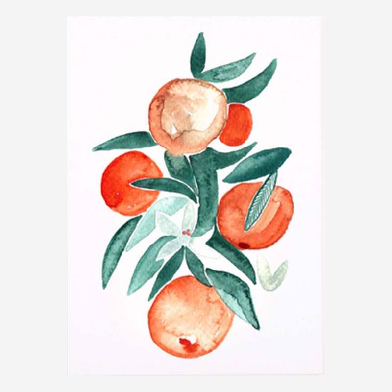 Postkarte Orangenblüten