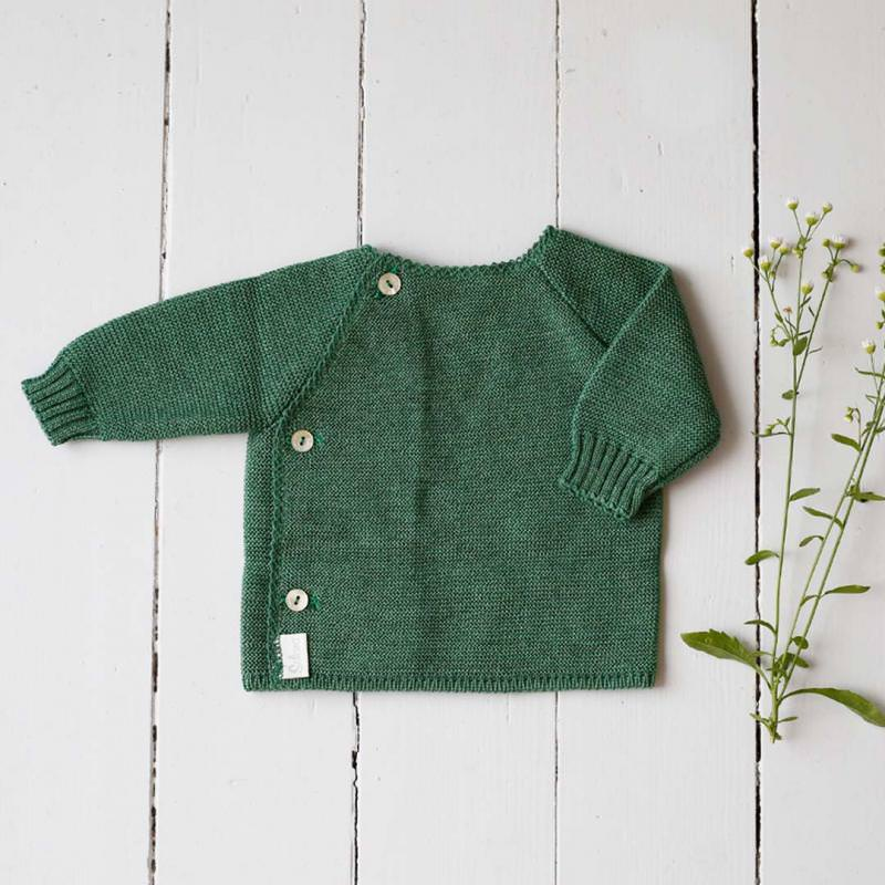 Schlüttli Babyjacke Wolle dusty green