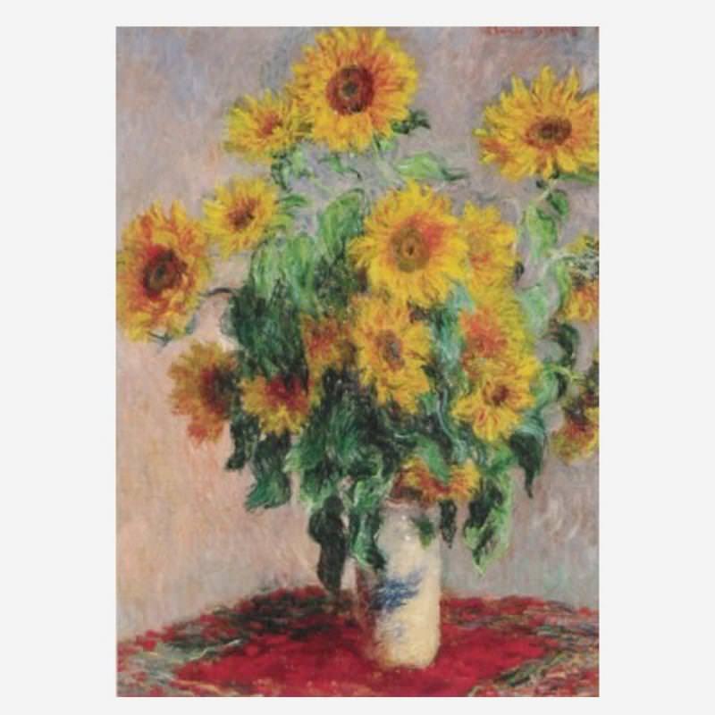 Postkarte Sonnenblumenstrauß