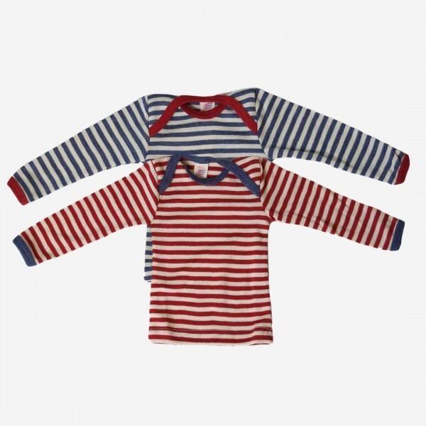 Baby Schlupfhemd Streifen Wolle