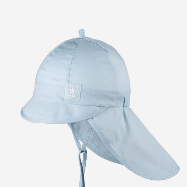 Sommermütze mit Nackenschutz eisblau