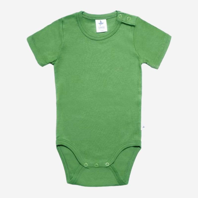 Kurzarm Body grün Leela Cotton
