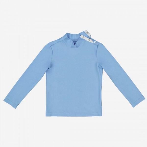 Bade-Shirt Turbot blau