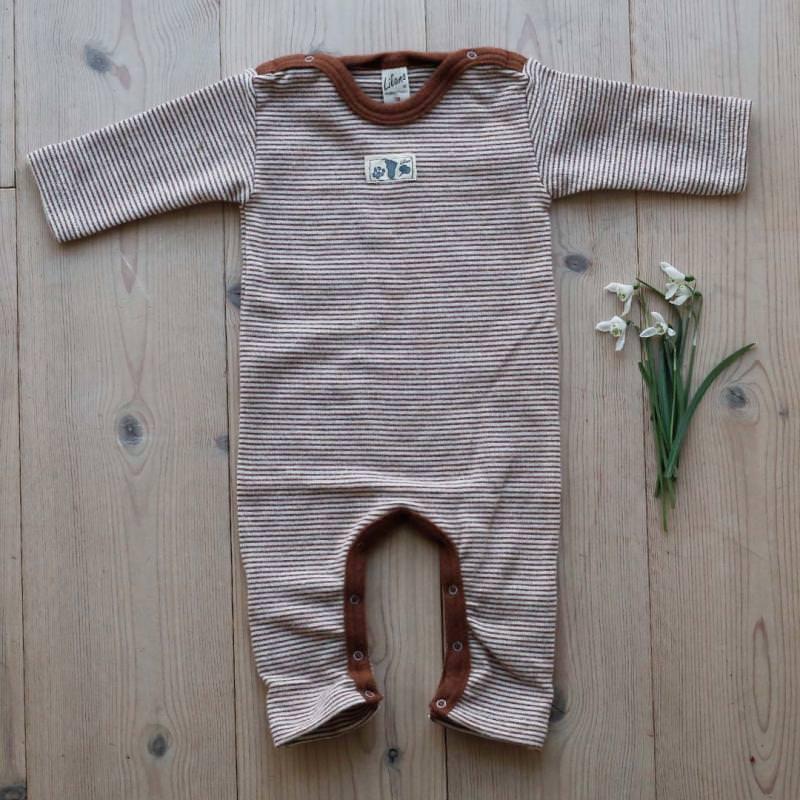 Anzug mit Beinumschlag Wolle/Seide Ringel rust
