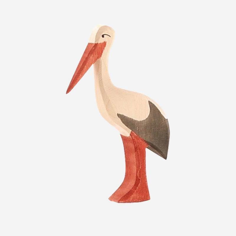 Holzfigur Storch von Ostheimer