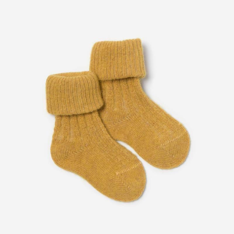 Baby Socken Wolle/Baumwolle gelb