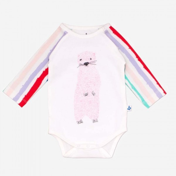 Body LS Raglan PP Winter Stripes