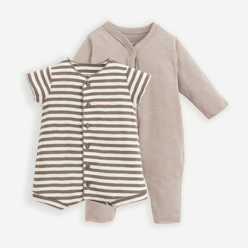 Body Schlafanzug Set bicho/pinha braun