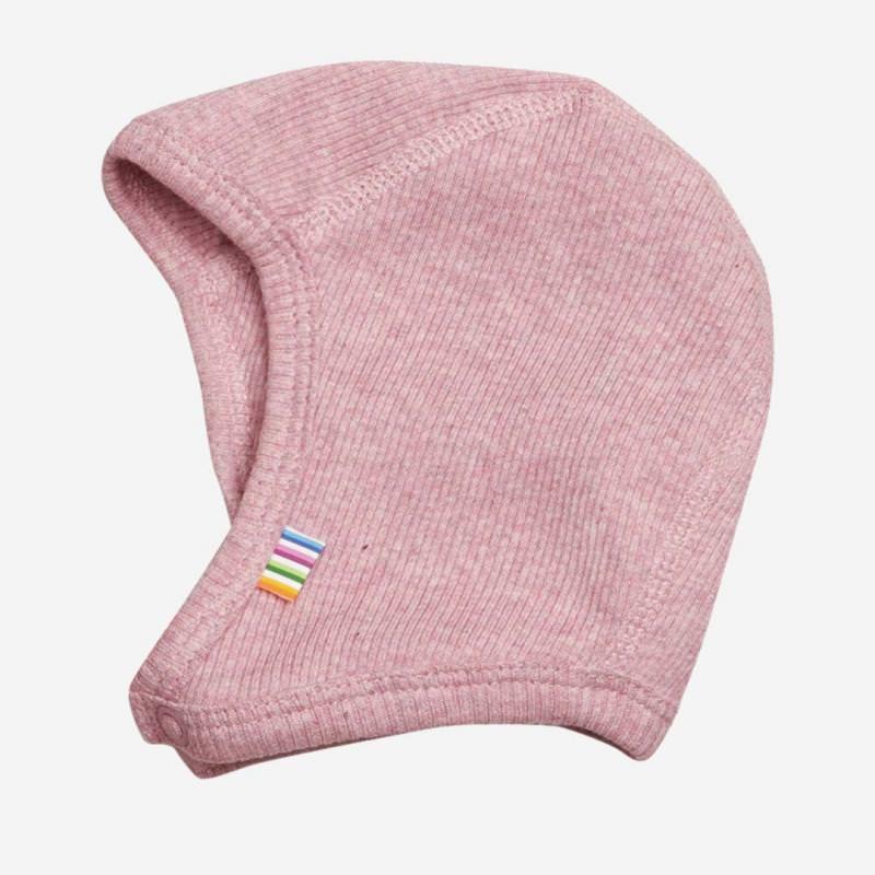 Babyhäubchen Baumwolle rosa melange