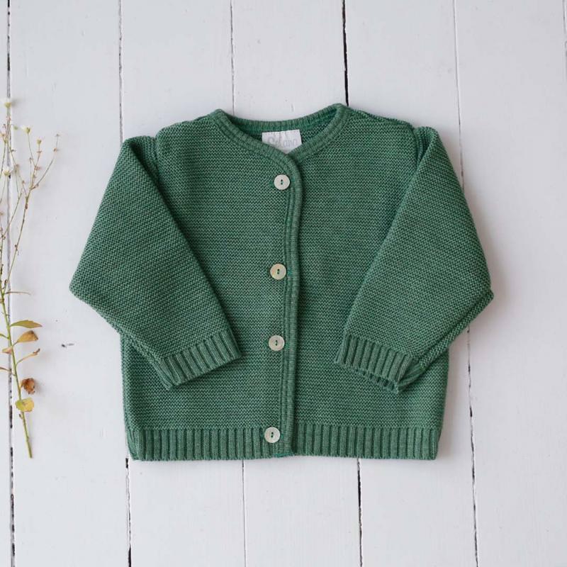 Strickjacke Wolle dusty green