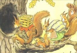 Postkarte Eichhörnchen (Beskow)