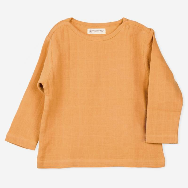 Langarm Shirt Farbenspiel ocker