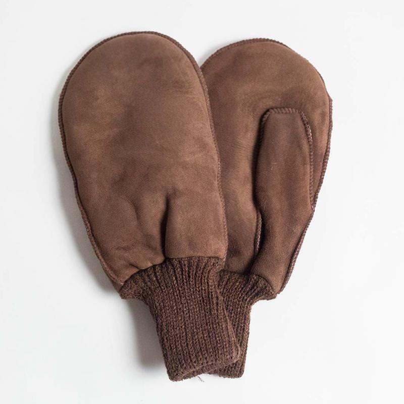 Fellhandschuh mit Strickbund