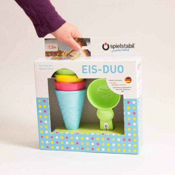 Eis Duo im Karton mit Eistüten