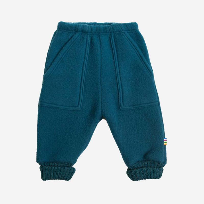 Baggy Pants Wollfleece petrolblau