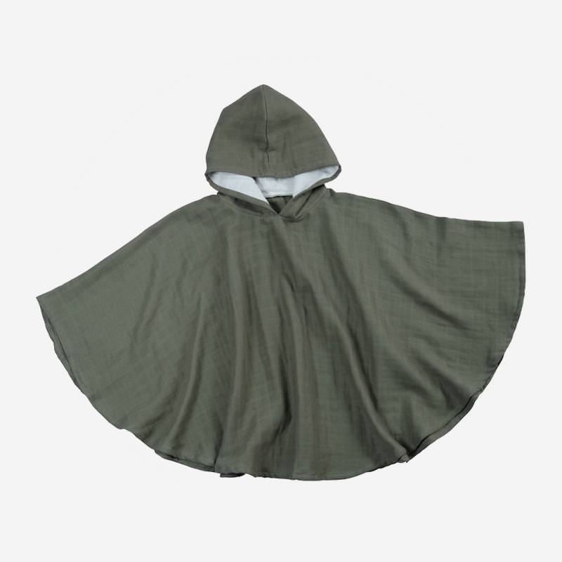 Musselin Poncho olive