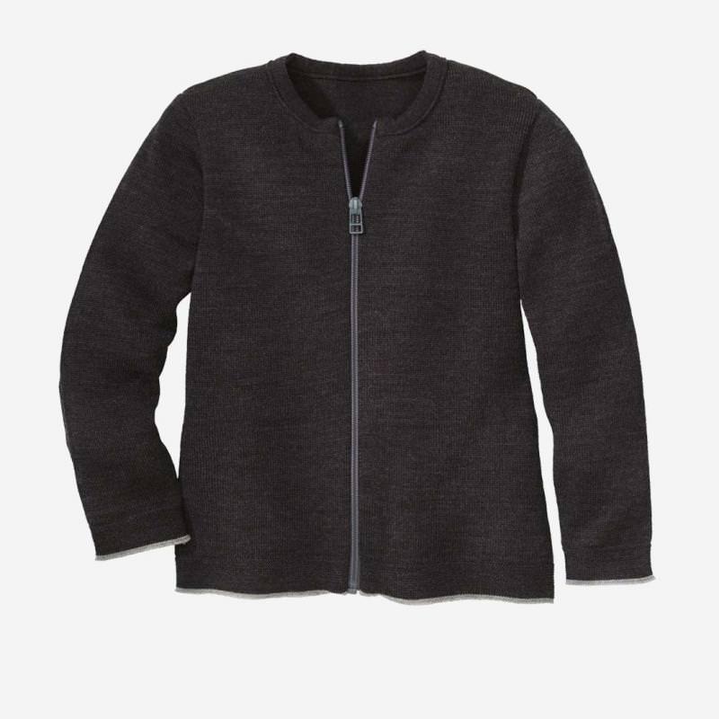 Strick-Jacke Wolle anthrazit