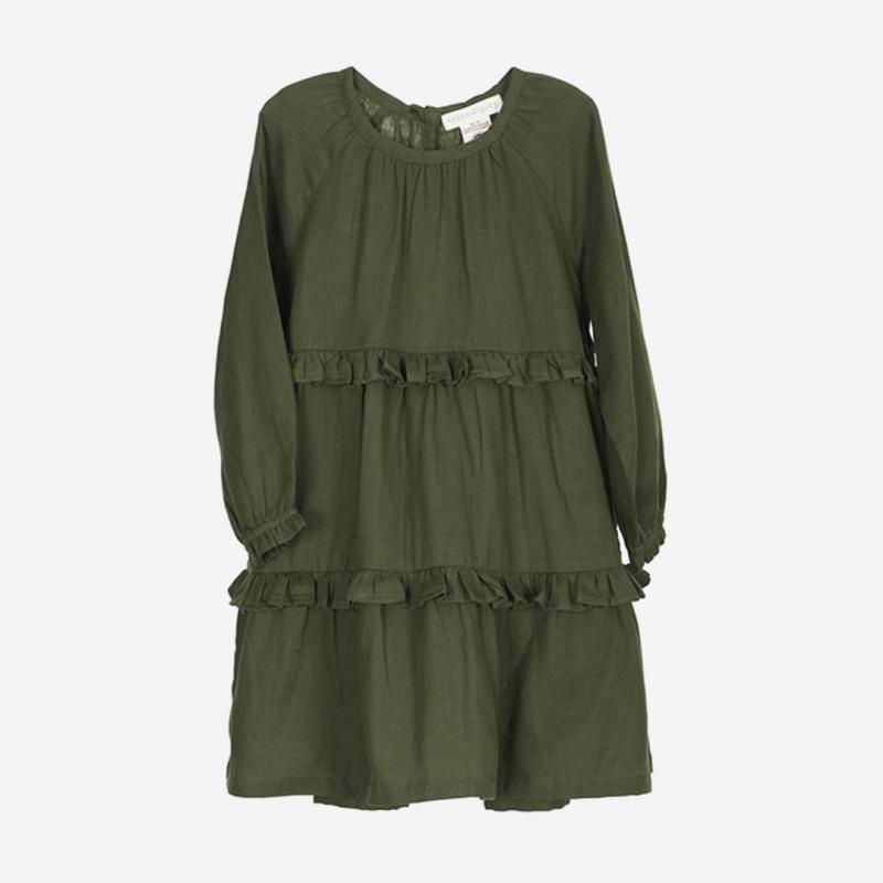 Gauze Dress cedar grün