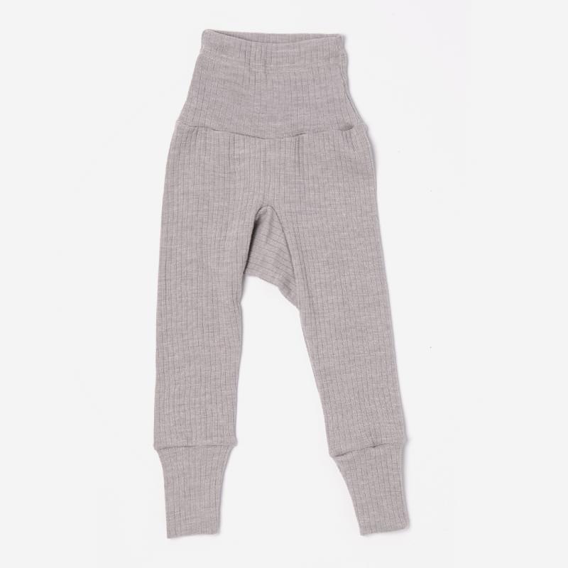 Babyhose Baumwolle/Wolle/Seide grau meliert