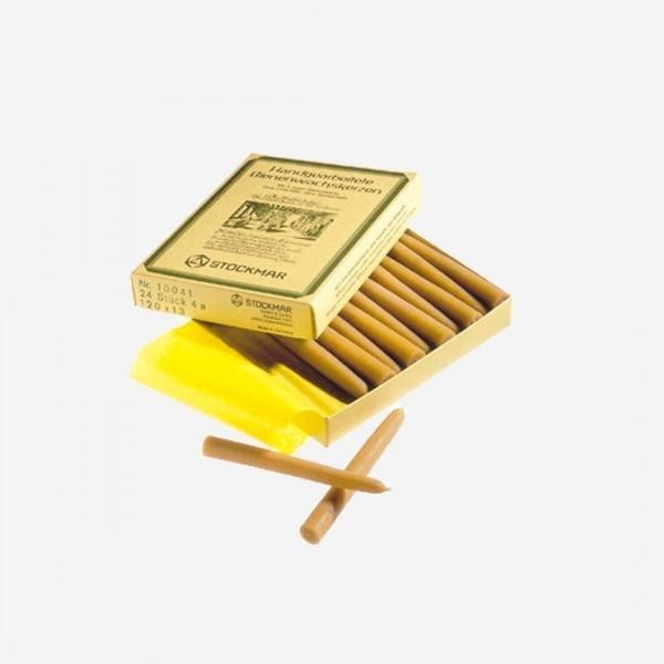 16 Bienenwachskerzen im Karton