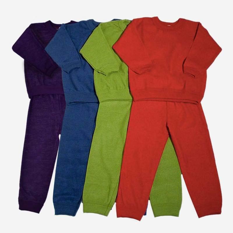 Schlafanzug 2-teilig Wollfrottee