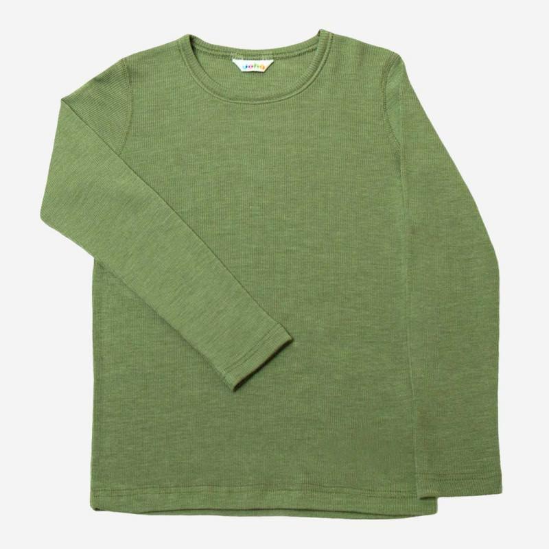 Kinder Shirt von Joha aus Wolle/Seide in salbei