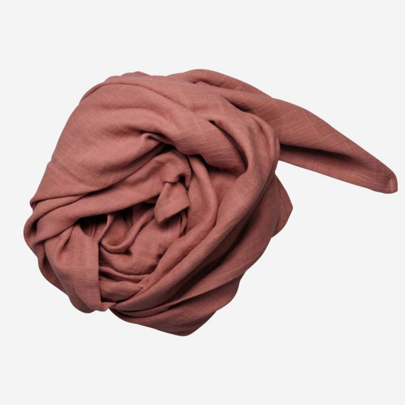 Swaddle Musselin Tuch groß clay