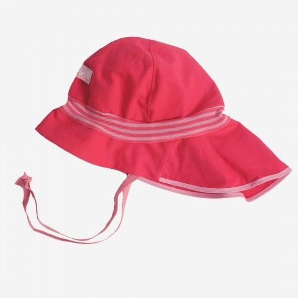 Sonnenhut Feuerwehr Strick UV Schutz pink