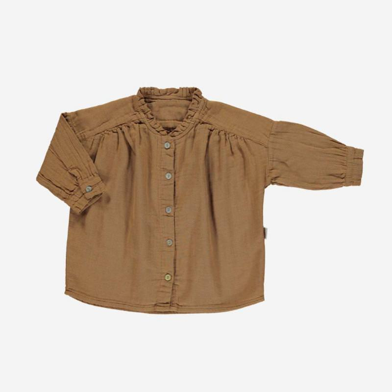 Bluse AMANDE brown sugar