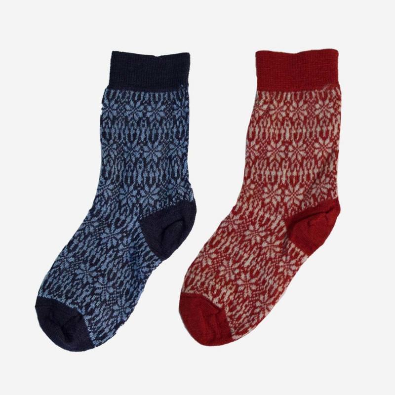 Socke Norweger Feinstrick