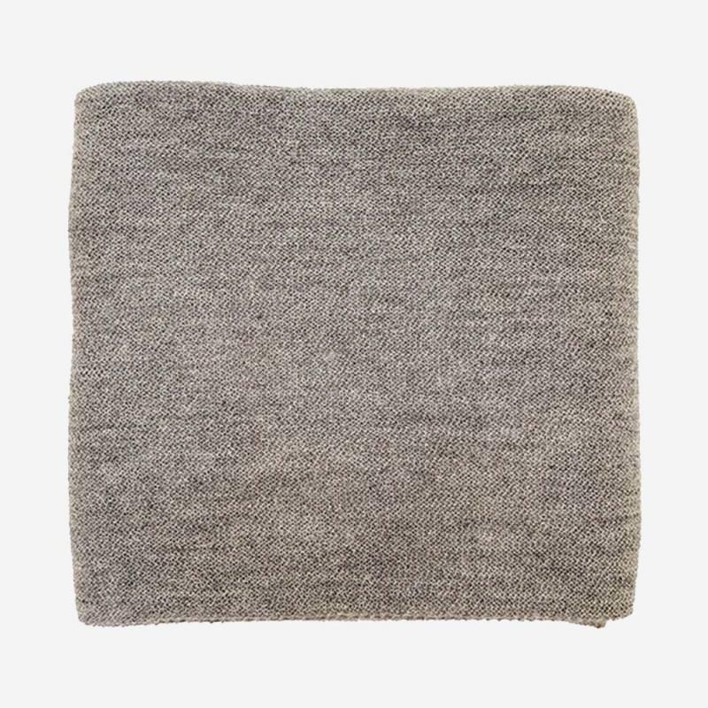 Babydecke BILLIE Lama/Seide natural grey