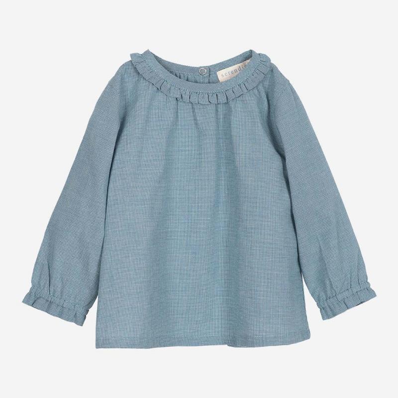 Baby Hemd von Serendipity aus Bio-Baumwolle in baltic square