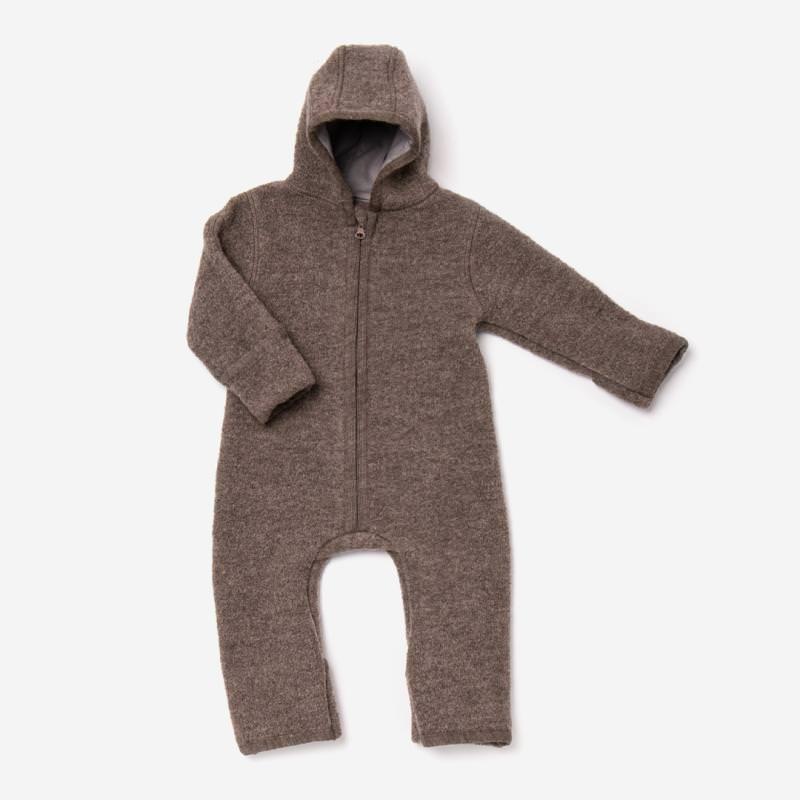 Baby Overall von Halfen aus Wollwalk in walnuss