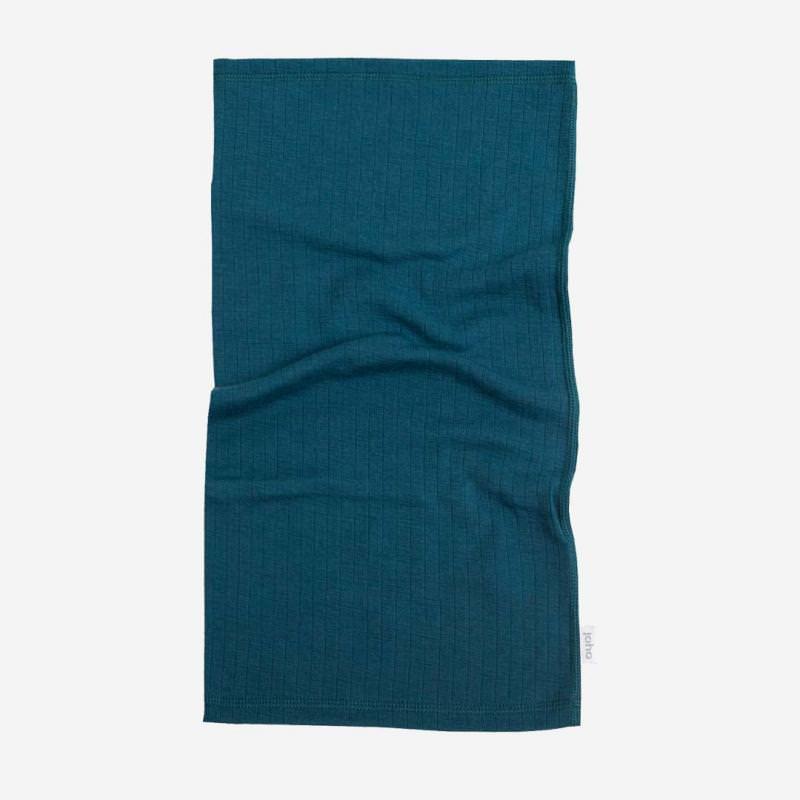 Schlauchschal Merinowolle petrolblau