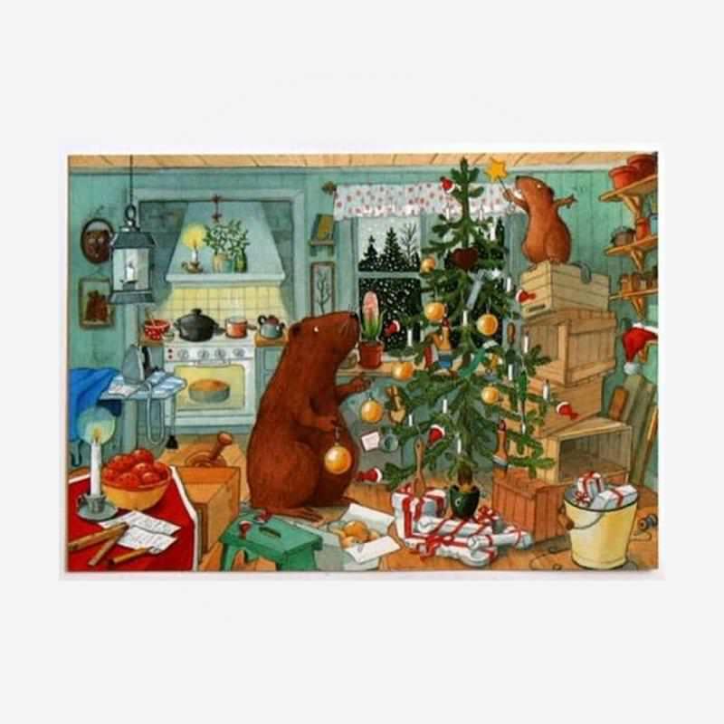 """Postkarte """"Tierische Weihnachten mit Kasimir"""""""