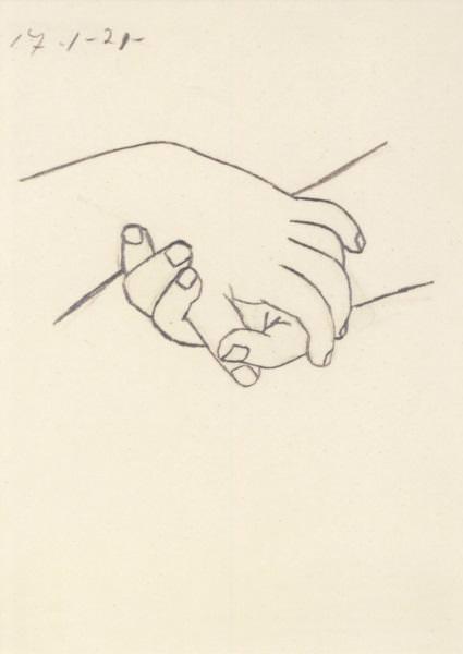 Postkarte Verschränkte Hände